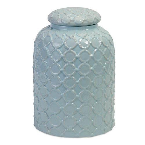 IMAX Robin Egg Blue Lidded Jar