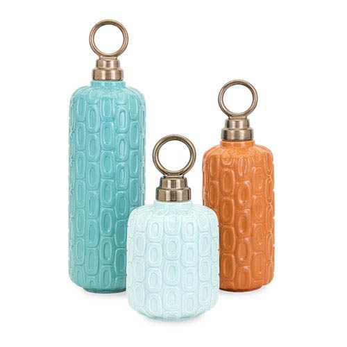 IMAX Leander Ceramic Jars, Set of 3
