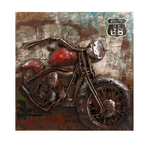 Motorcycle Dimensional Metal Art