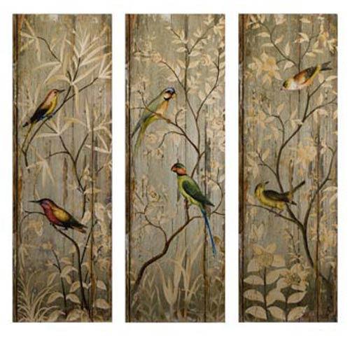 IMAX Calima Bird Wall Decor, Set of Three