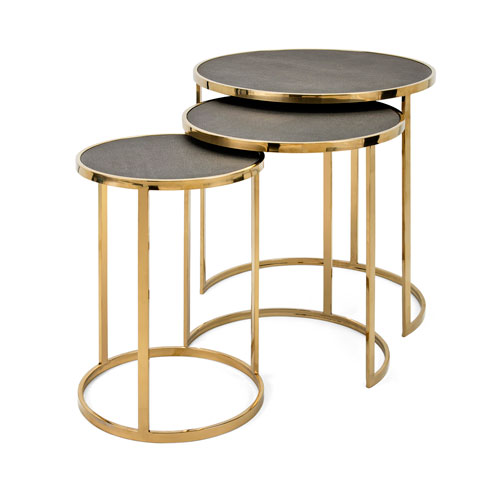 IMAX Marek Stainless Steel Tables, Set of 3