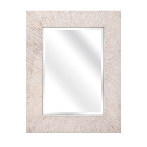 Embry White Mother of Pearl Mirror