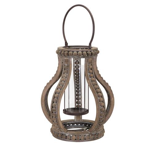 IMAX Akiko Large Wooden Lantern