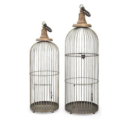 Lenore Bird Cages, Set of 2