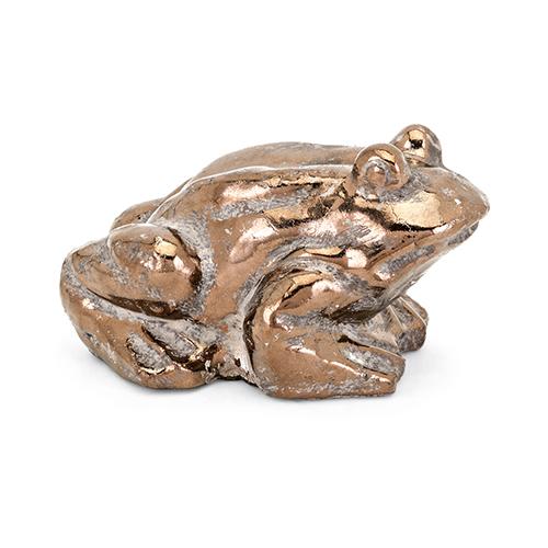 Frankie Metallic Frog in Bronze