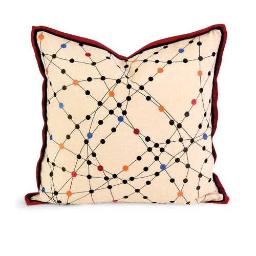IMAX IK Xander Embroidered Linen Pillow w/ Down Fill