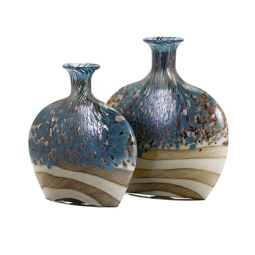 Nordiak Glass Vases, Set of 2