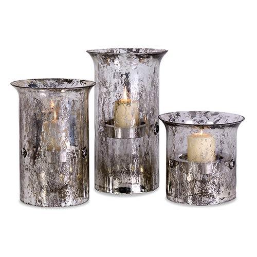 IMAX Mercury Iron Candleholder, Set of Three