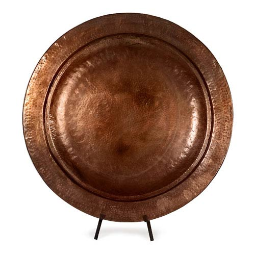 IMAX Copper-Plated Charger with Stand