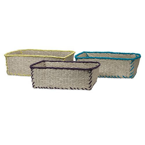 Koko Gray Storage Basket, Set of Three