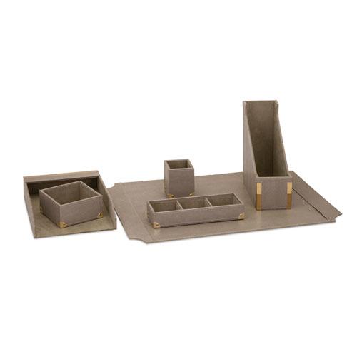 BAK Home Grey Desk Set of Six