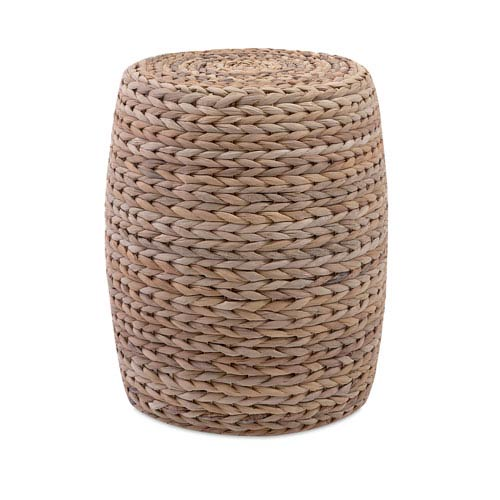 Esteri Natural Banana Leaf Ottoman