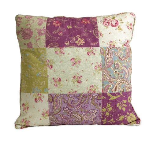Etta May Multicolor 18-Inch Patchwork Pattern Pillow