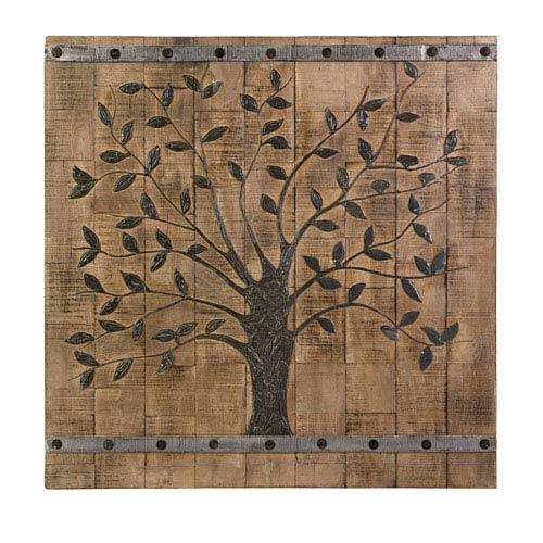 Multicolor Tree Of Life Wood Wall Panel