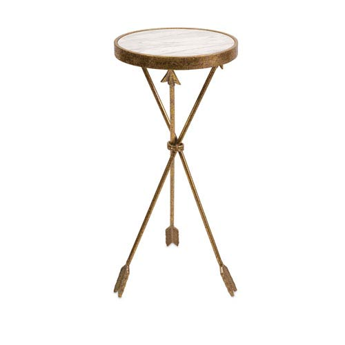 Arrow Gold Marble Top Table