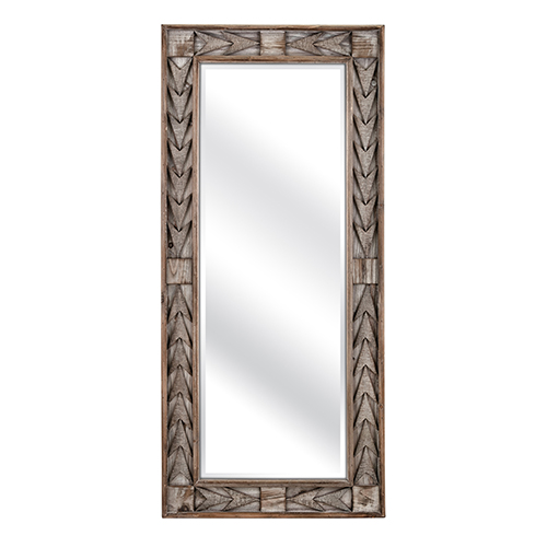 Lauer Wall Mirror in Brown