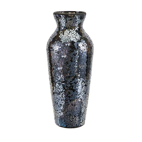 Harvest Mosaic Glass Vase in Blue