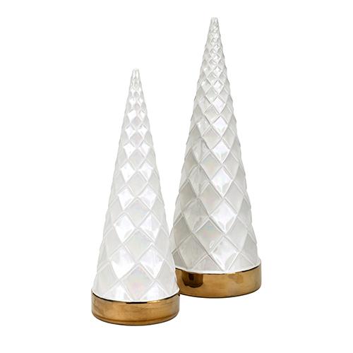 Imax White Christmas Trees Set Of 2