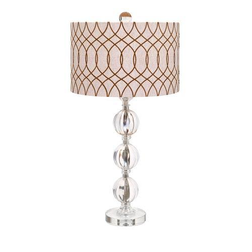 IMAX Avena Crystal One-Light Table Lamp