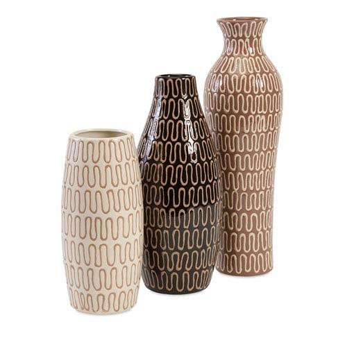 IMAX Tolek Multicolor Vases, Set of Three