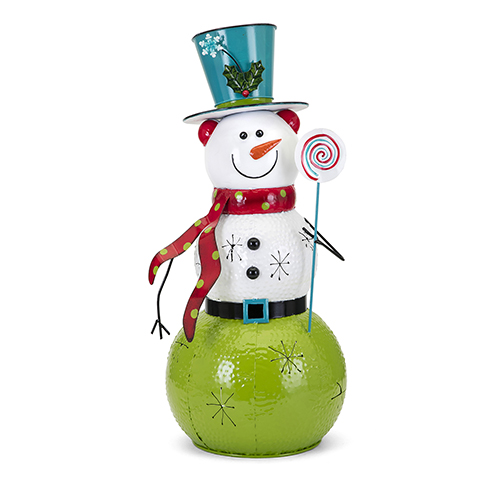 Whimsy Multicolor Large Snowman Lantern