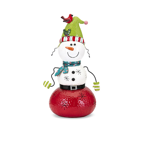 Whimsy Multicolor Small Snowman Lantern