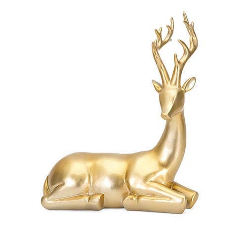 Gold Seated Reindeer