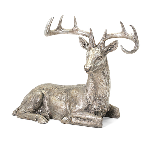 IMAX Silver and Gold Laying Reindeer