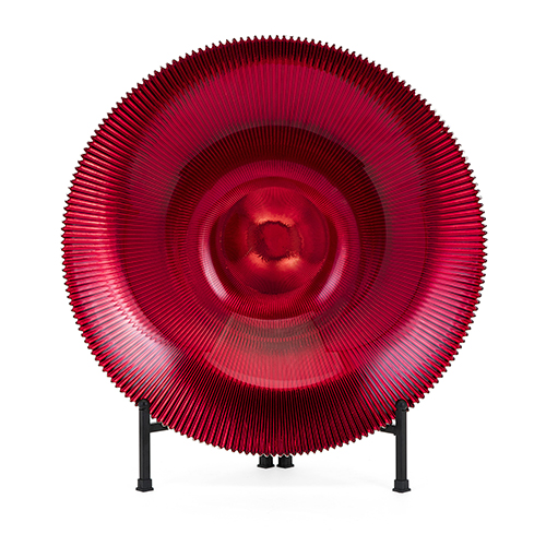 Rufina Red Glass Bowl with Stand