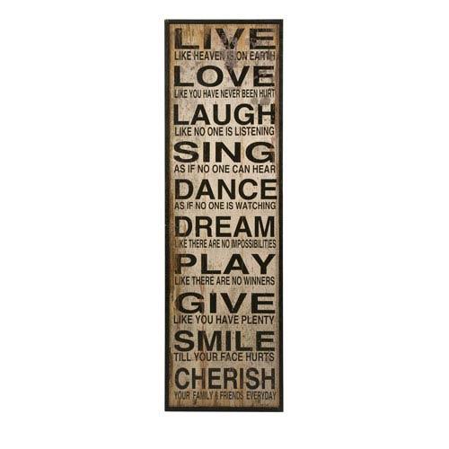 IMAX Live Love Laugh Wall Decor