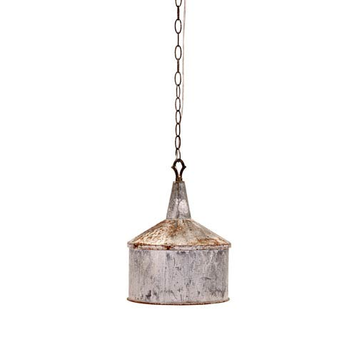Norman Grey One-Light Galvanized Pendant Light