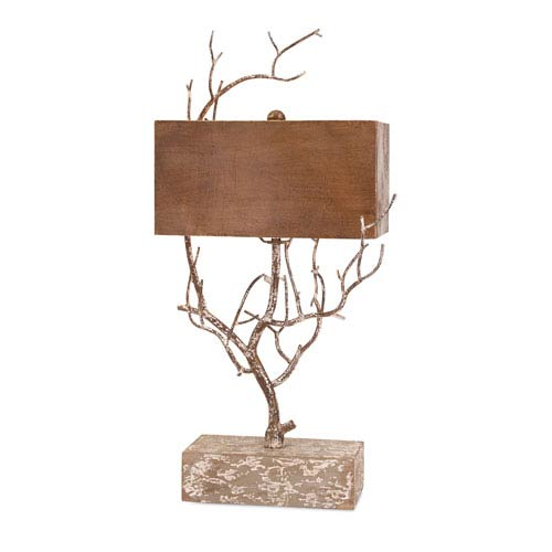 Sherwood Brown Metal Tree Lamp