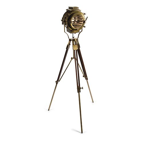 Allerd Brass Tripod One-Light Floor Lamp