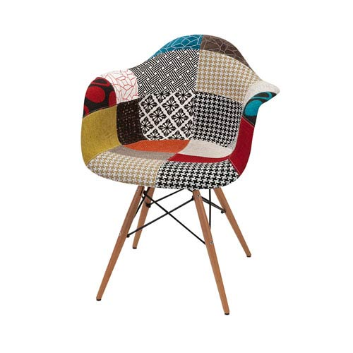 Nadine Multicolor Retro Accent Chair