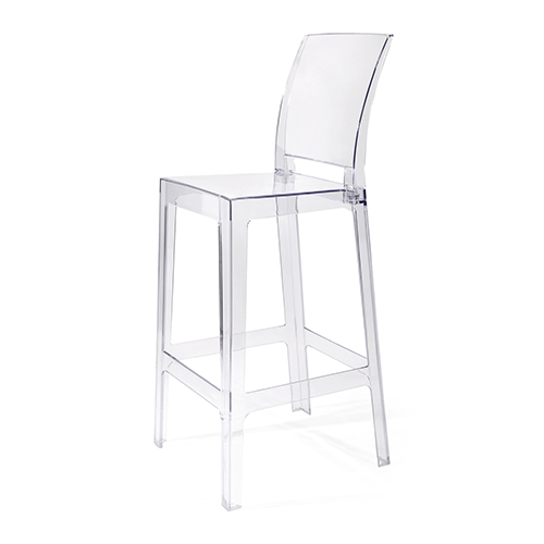 Vitreous Bar Chair in Clear