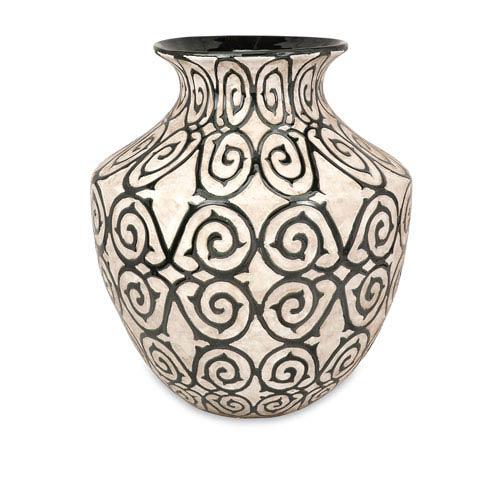 IMAX Benigna Bronze and Cream Wide Oversized Floor Vase