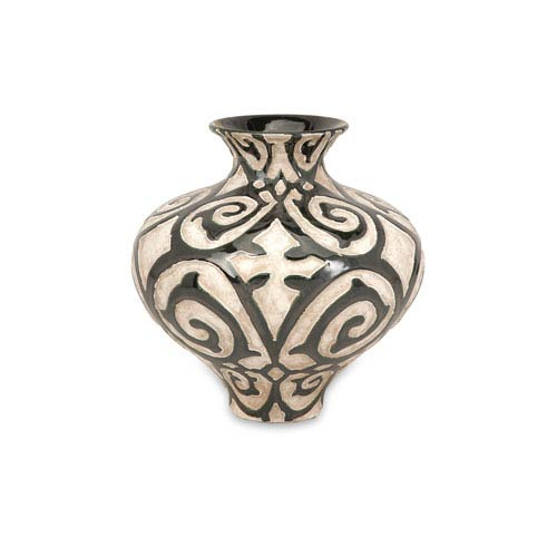 Benigna Bronze and Cream Short Vase