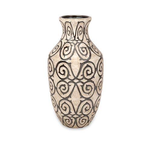 Benigna Bronze and Cream Large Vase