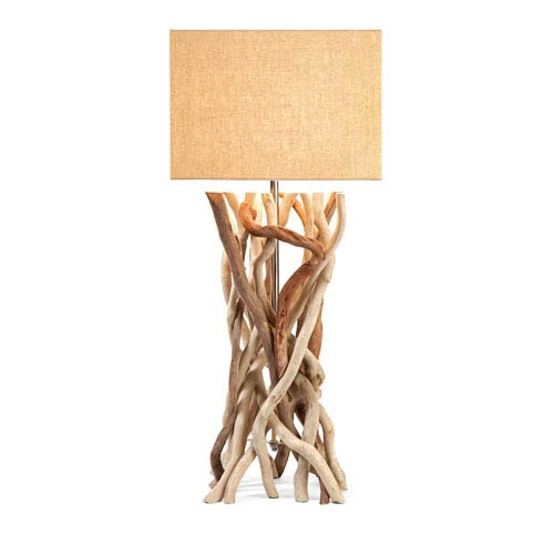 IMAX Explorer Natural Drift Wood One-Light Table Lamp