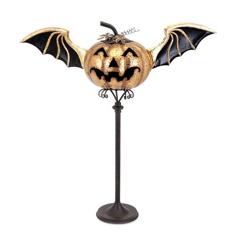 Eddy Black and Orange Jack O Lantern Stand