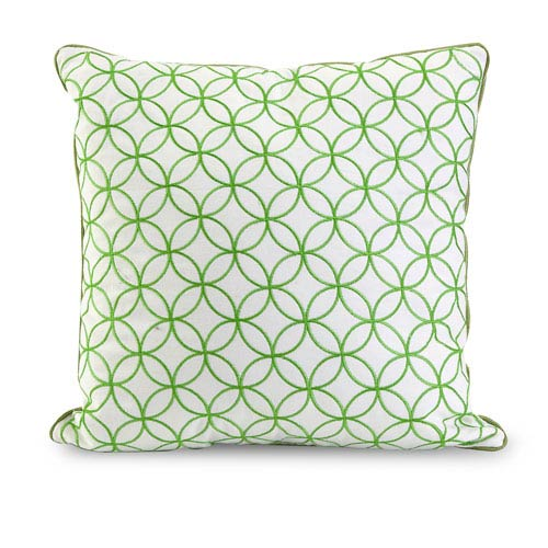 Essentials Green Apple 18-Inch Embroidered Pillow