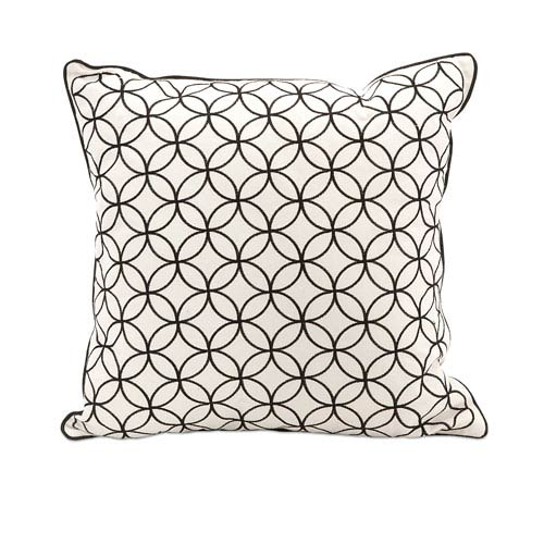 IMAX Essentials Black 18-Inch Decorative Pillow
