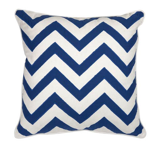 Essentials Marine Blue 18-Inch Decorative Pillow