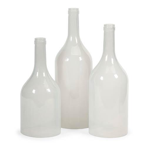 IMAX Monteith White Cloche Bottle, Set of Three