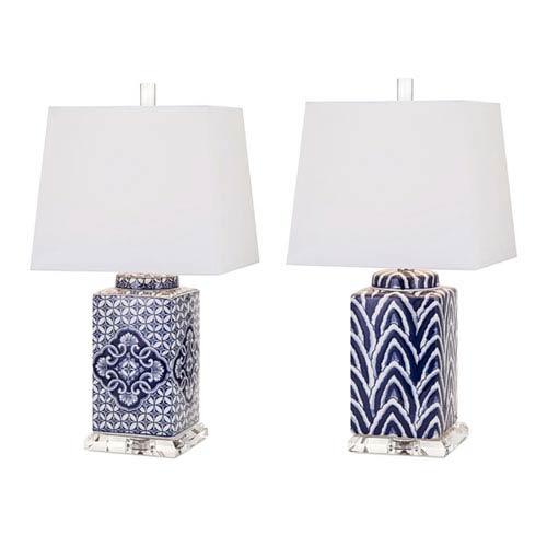 IMAX Carolina Hand-Painted Ceramic Lamps, Set of 2