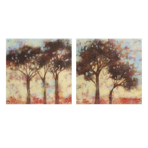 Kaleidoscope Trees Acrylic Floating Wall Art, Set of 2