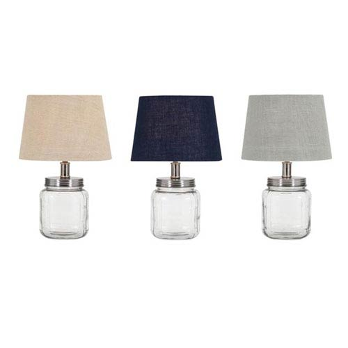 IMAX Ella Elaine Fillable Glass Jar Lamps, Set of 3