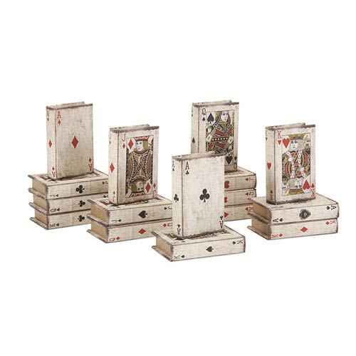 IMAX Playing Card Book Boxes, Set of 16
