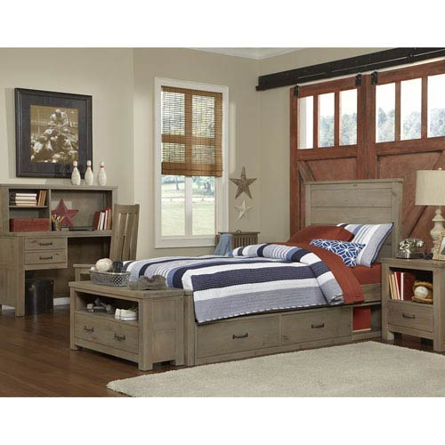 Highlands Driftwood Alex Twin Bed with Storage