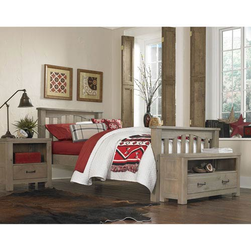 Ne Kids Highlands Driftwood Harper Twin Bed